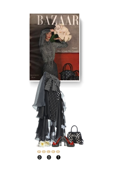 Bazaar vintage style - polka dot