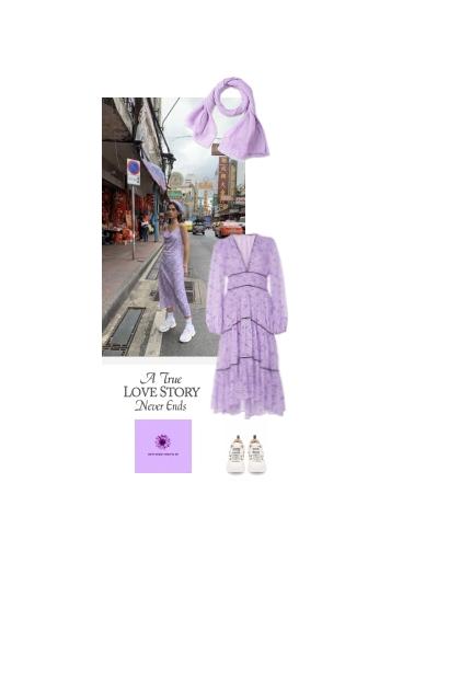 Summer - lilac dress