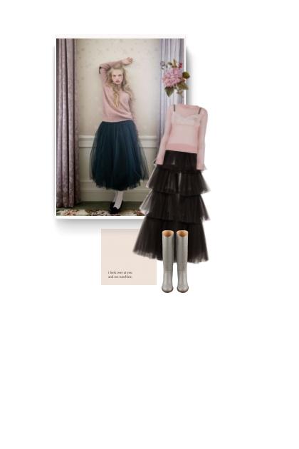 OSCAR DE LA RENTA black tulle skirt