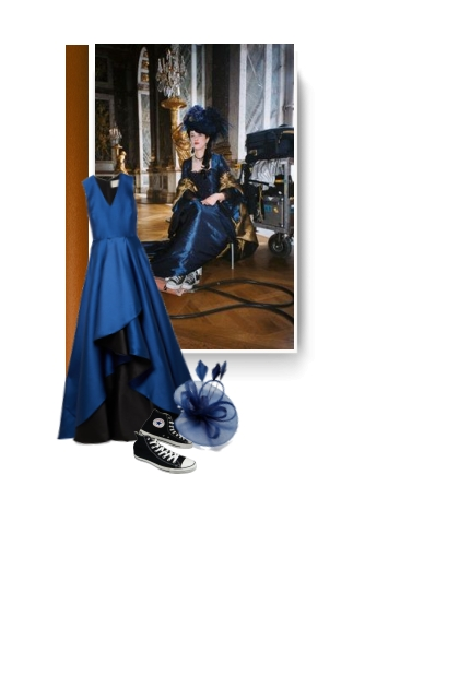 satin-crepe gown dress and converse