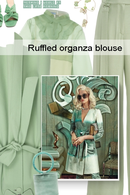 Ruffled organza blouse