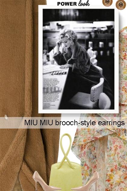 MIU MIU brooch-style earrings - コーディネート