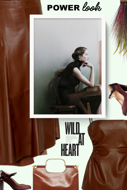 BRUNELLO CUCINELLI High-rise leather skirt
