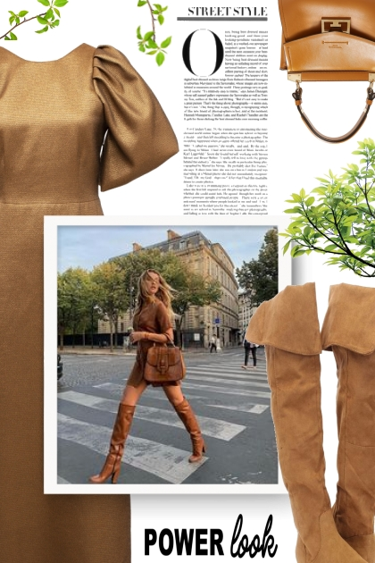 LAKE STUDIO brown metallic dress