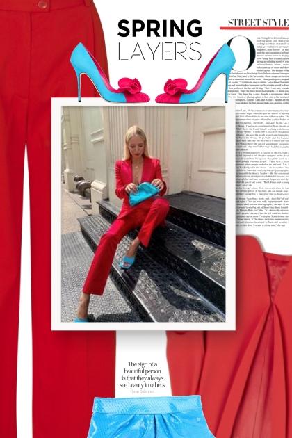 red / turquise- Fashion set