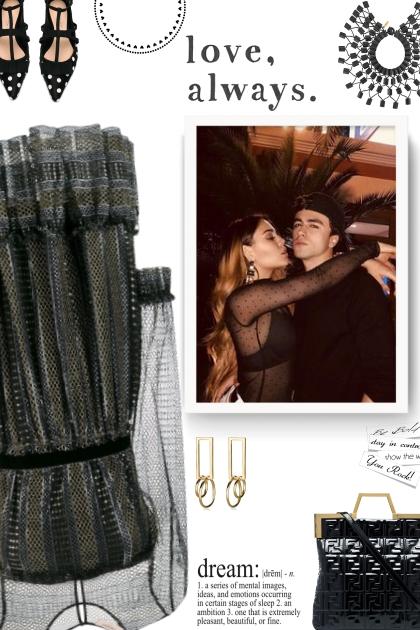 TWIN-SET metallic sheer dress