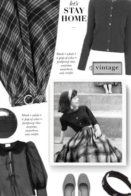 GRACE KARIN Women's Elastic Waist Vintage A-Line P