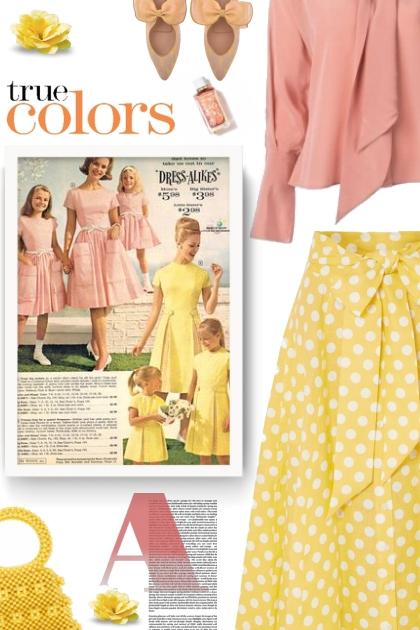 Polka-dot linen midi skirt