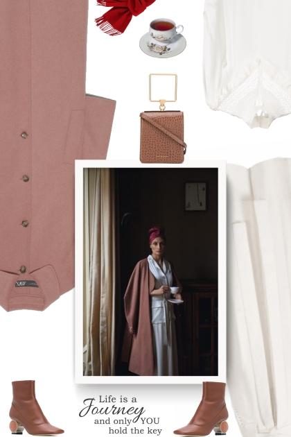 Dusty pink coat Zara