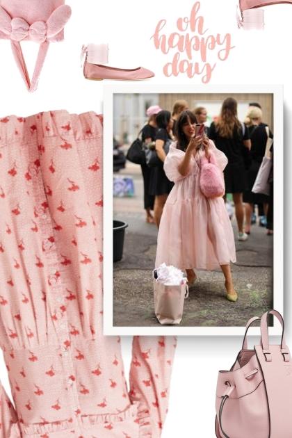 SEA Ruffled floral-print cotton dress