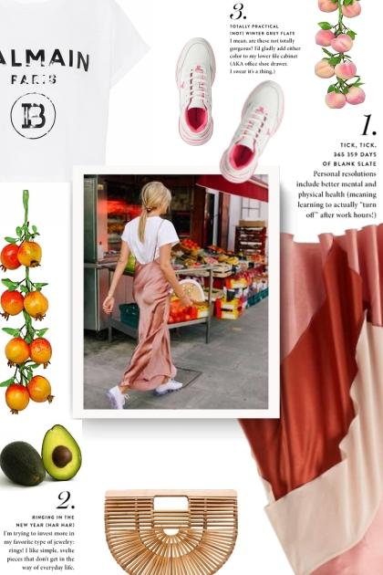 Roksanda pink silk-satin Mahria skirt