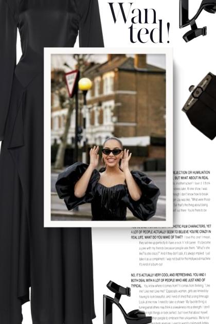 LANVIN black crepe maxi dress