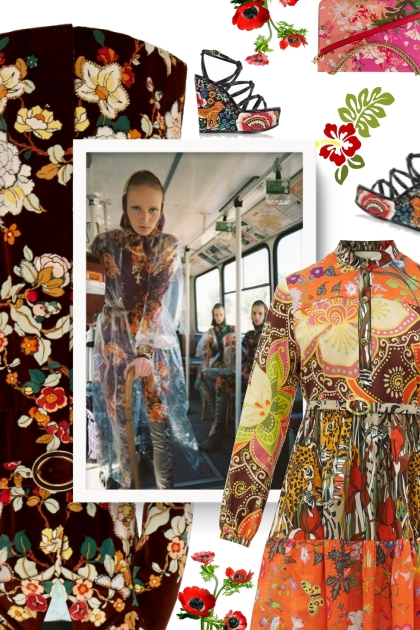 Gucci Jungle cat and floral-print cotton