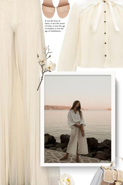 Chantilly-lace and silk-chiffon blouse