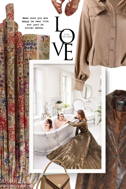 BY WALID Margot floral-print silk midi skirt
