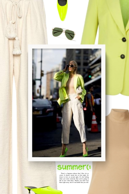 Neon Tailored Jacket