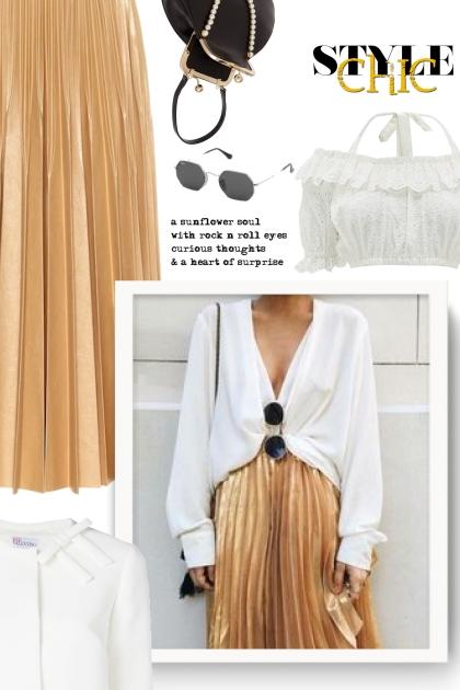 GIVENCHY Pleated lamé midi skirt - summer