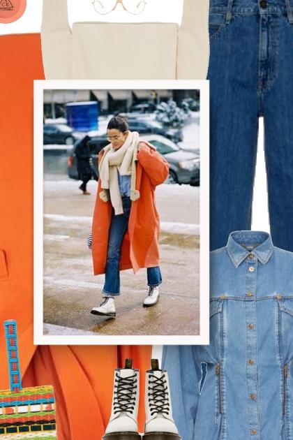 coat in orange
