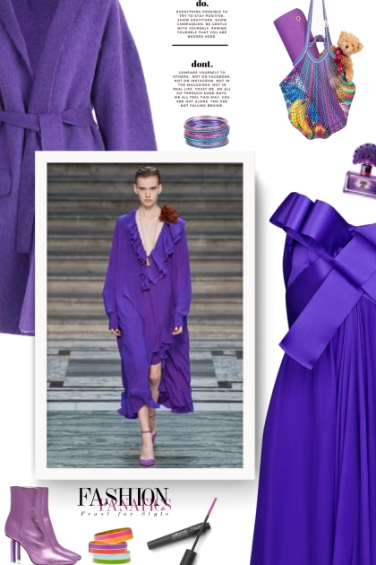 Metallic Purple Boots - fall