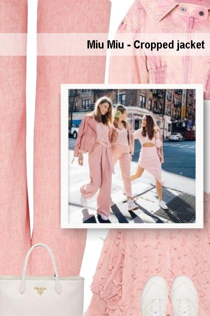 Miu Miu - Cropped jacket - street style