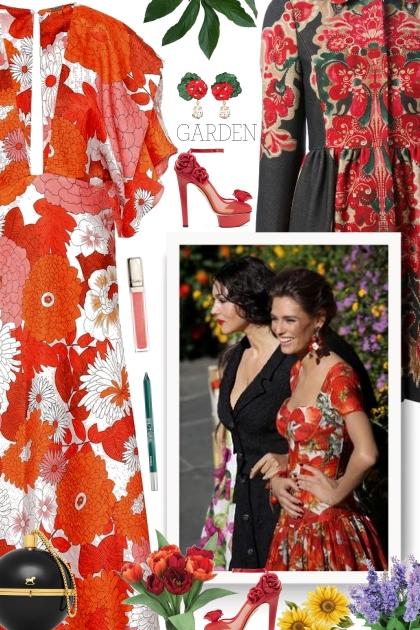 DOLCE & GABBANA Floral clip-on drop earrings