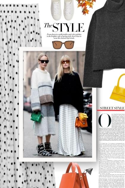 polkadot skirt - Fashion set