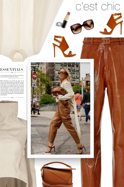 Zeynep Arçay Mom Straight-Leg Leather Pants