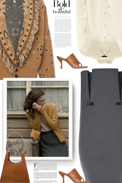 pencil skirt - fall style