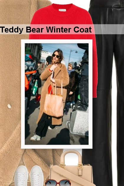 Street Style - Teddy Bear Winter Coat- Modekombination
