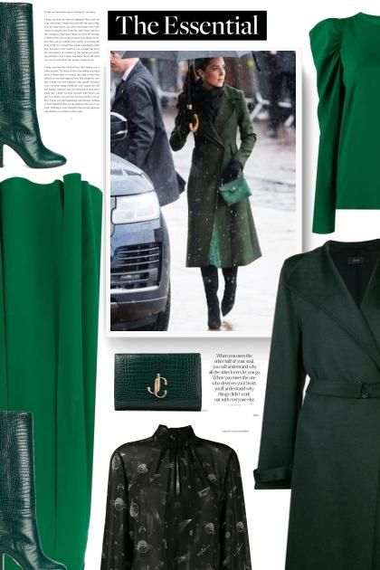 JIMMY CHOO VARENNE CLUTCH Dark Green Bag
