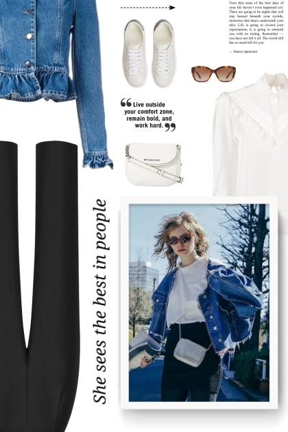 Denim Ruffle Jacket - Fashion set