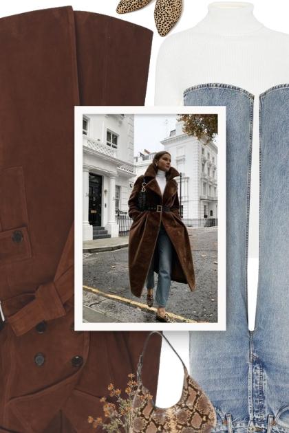 ALEXA CHUNG breasted suede coat - Fashion set