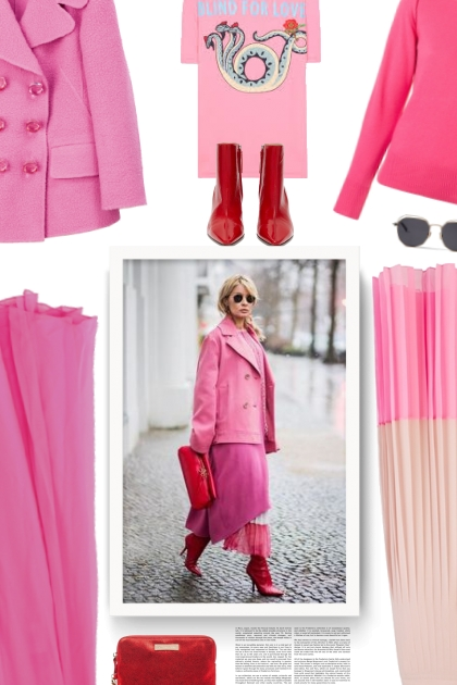 Fall - pink & red- Fashion set