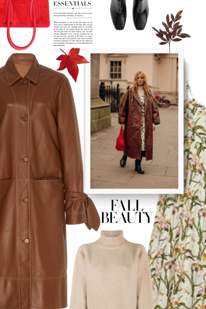 STAUD brown leather coat