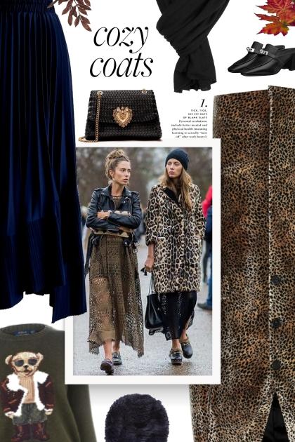 Leopard-print velvet coat
