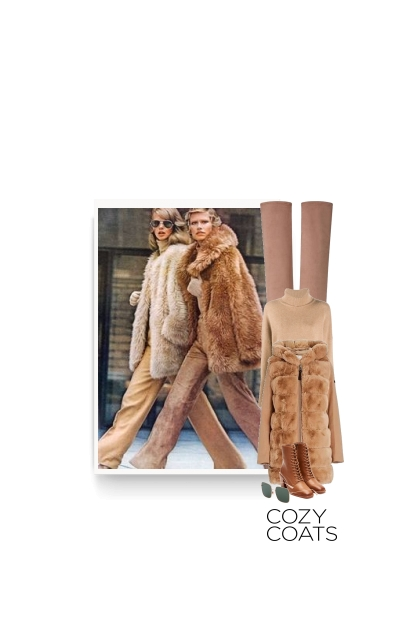 cozy fur coat