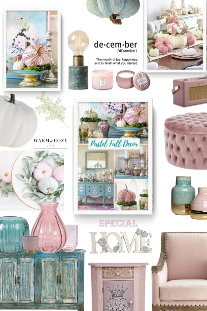 december in pastels- Fashion set