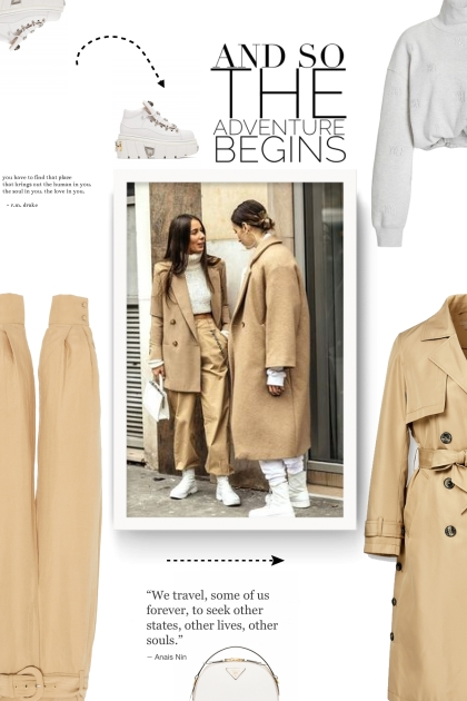 beige and white style