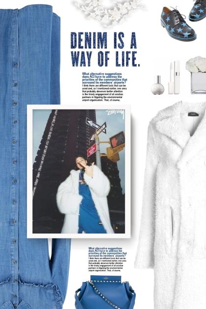 JOSEPH long fur coat - Fashion set