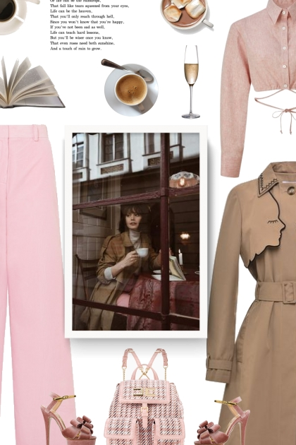 pink and beige