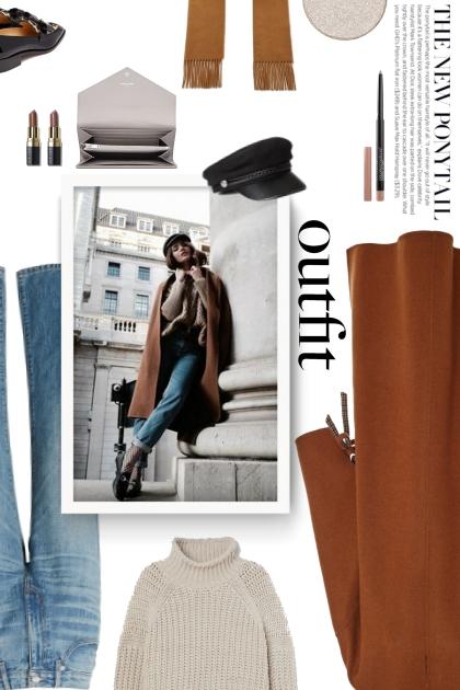 DEVEAUX wool blend coat