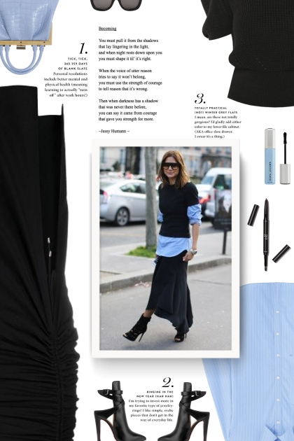 black and light blue- Fashion set
