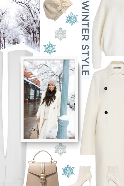 winter style - white and beige