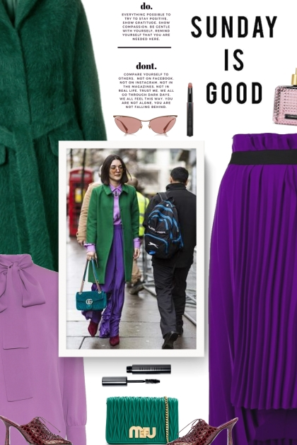street style - purple and green