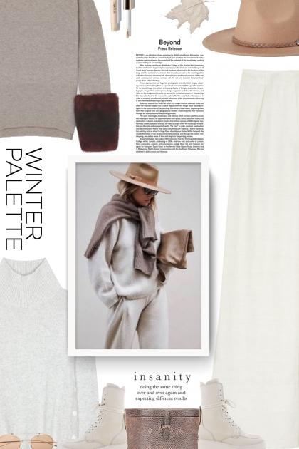 winter palette - white and beige