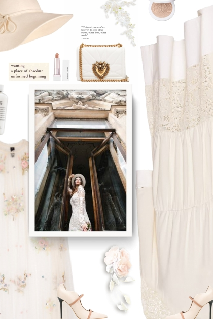 Asymmetric guipure lace midi dress