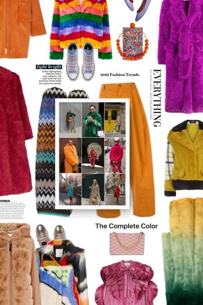 the complete color - fur coat