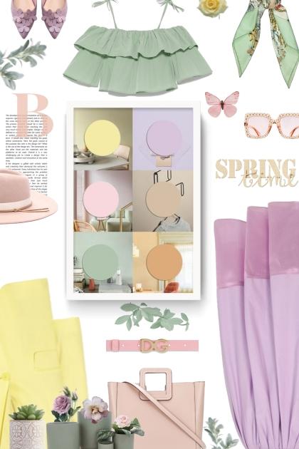 spring time - pastels