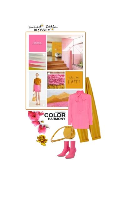 marigold and pink