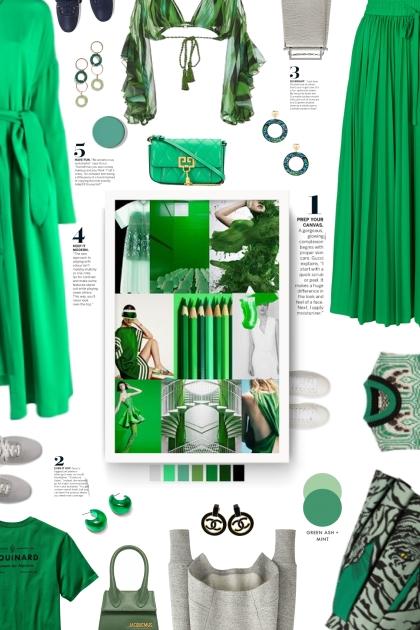 green, grey, black